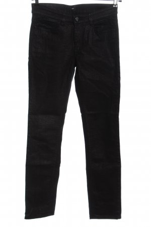 Mac Stretch Trousers black-light grey abstract pattern casual look