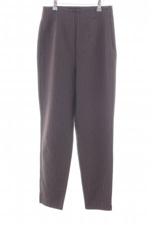 Mac Stretchhose braun Streifenmuster Business-Look