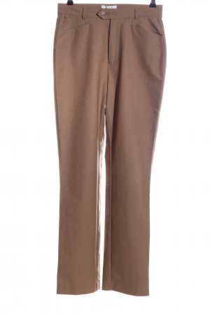 Mac Stretchhose braun Allover-Druck Casual-Look
