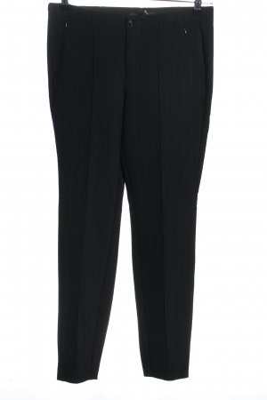 Mac Woolen Trousers black-white striped pattern casual look