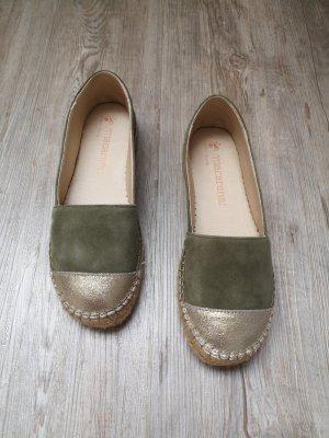 Macarena Espandrilles Elisa 38 khaki grün Bronze gold