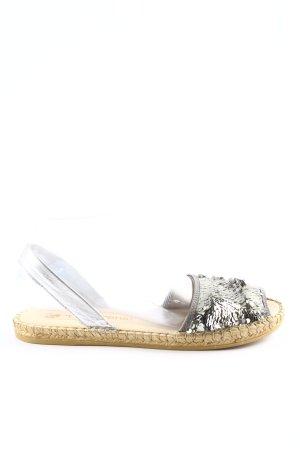 Macarena Komfort-Sandalen silberfarben Glitzer-Optik