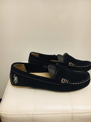 U.s. polo assn. Mocassins donkerblauw-wolwit