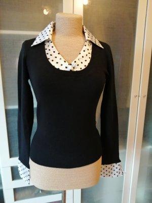 Macherie Paris Pullover mit Bluseneinsatz Gr. M