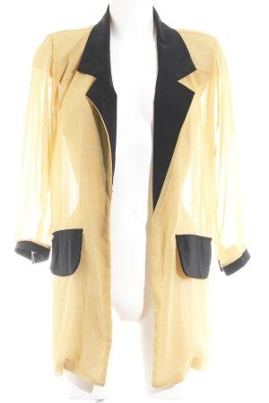 Machima Long-Blazer goldorange-schwarz 70ies-Stil