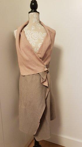 Woolen Dress beige-dusky pink cotton