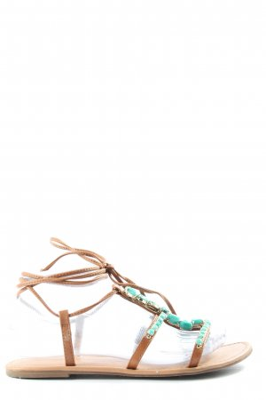 Madden Girl Strapped Sandals brown-turquoise casual look
