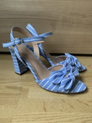 Strapped High-Heeled Sandals white-cornflower blue
