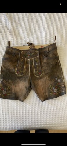 Country Maddox Pantalone in pelle marrone