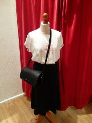 Made in France: Sessun - Umhängetasche aus schwarzem Leder - top!