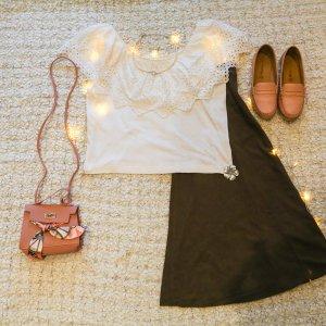 Vintage Carmen Shirt white cotton