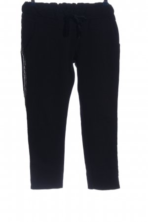 Made in Italy Pantalone a 3/4 nero stile casual