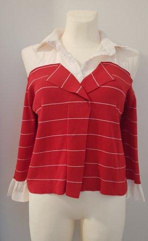 J&J Couture Koszulka w paski biały-czerwony
