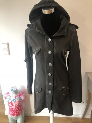 Made in Italy Hooded Coat grey