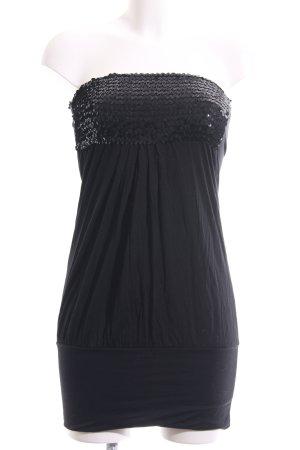 Made in Italy Bandeaukleid schwarz Elegant