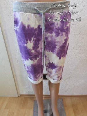 Made in Italy Bermuda blanco-púrpura