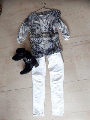Made in Italy Bluse mit Top und Creolen