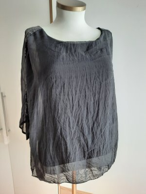 Made in Italy Jedwabna bluzka czarny