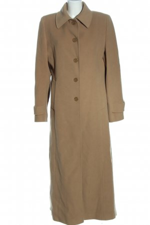 Made in Italy Manteau long brun style décontracté