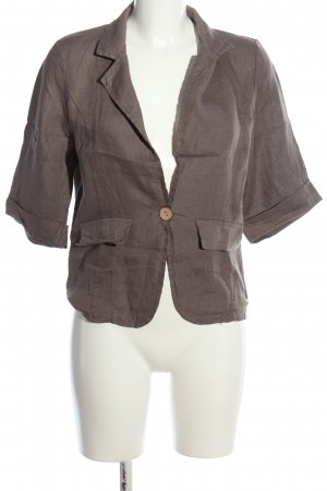 Made in Italy Boyfriend-Blazer braun Business-Look