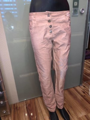 Made in Italy Boyfriendbroek abrikoos Katoen