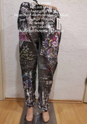 Made in Italy Pantalon large noir