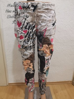 Made in Italy Pantalon large multicolore