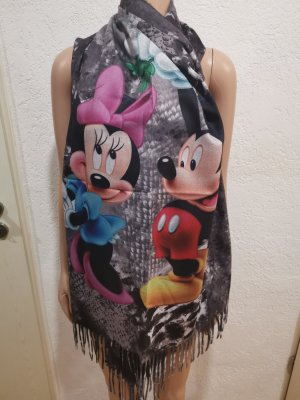 Made in Italy bunter Micky Minnie Mouse Schal lang