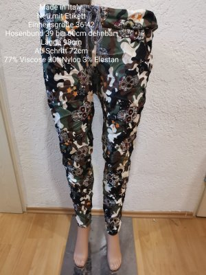 Made in Italy Camouflage Totenkopf Jogpants Jogger Hose Größe 36 38 40 42