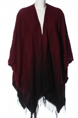 Made in Italy Strickponcho rot-schwarz Casual-Look
