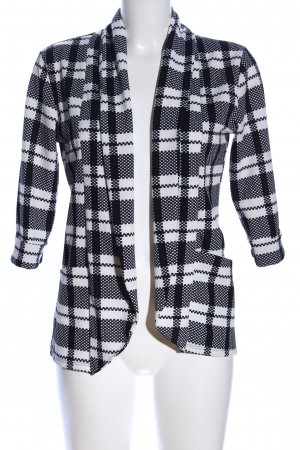 Made in Italy Cardigan schwarz-weiß Allover-Druck Business-Look