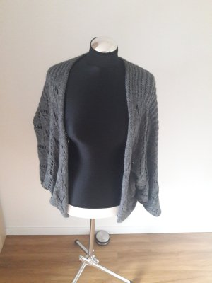 Made in Italy Cardigan à manches courtes gris