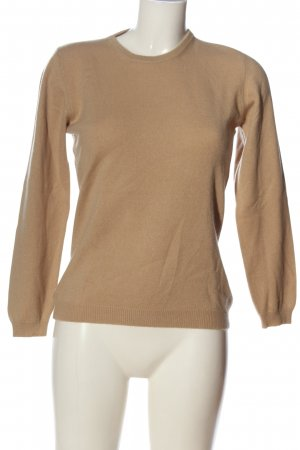 Made in Italy Kaszmirowy sweter nude W stylu casual