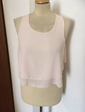 Made in Italy Chiffon Crop Top Gr S