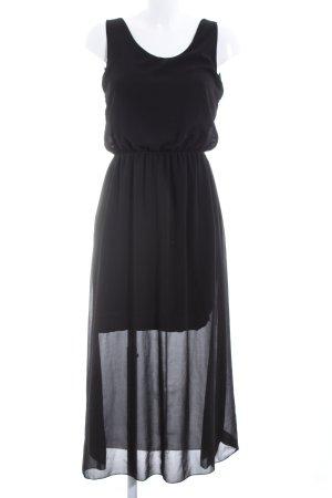 Made in Italy Chiffonkleid schwarz Elegant
