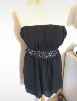 Made in Italy Vestido bandeau negro