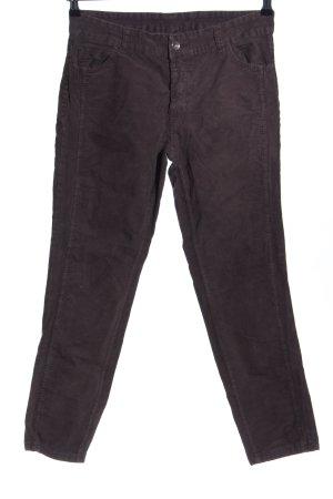 Made in Italy Pantalon en velours côtelé brun style d'affaires