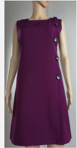 Made in Italy Damen Freizeit Kleid mit Zierknöpfen Violett  Gr. S 36/38