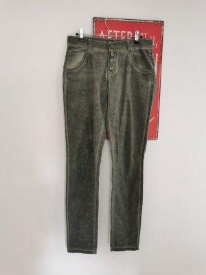 Made in Italy Damen Jeans Vintage Look Strass grau Größe 40