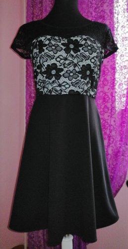 Made in Italy Damen Party Freizeit Kleid Spitze Gr. L 38/40