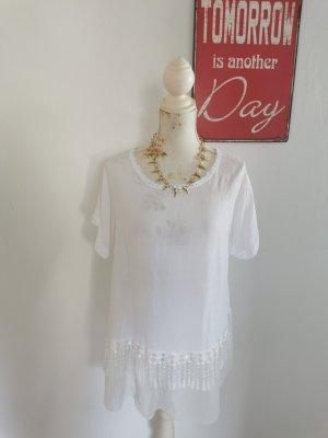 Made in Italy Camicia a tunica bianco Viscosa