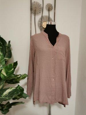 Made in Italy Designer Damen Bluse Hemdbluse langarm altrosa Größe 40