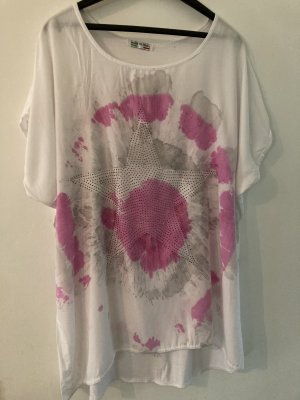 Made in Italy edles Design Shirt mit Strass Gr 42