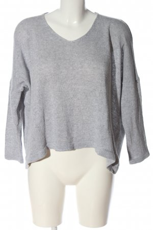 Made in Italy Feinstrickpullover hellgrau Casual-Look