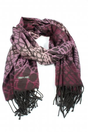 Made in Italy Fringed Scarf allover print casual look