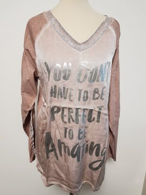 Made in Italy Print Shirt silver-colored-rose-gold-coloured