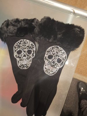 Made in Italy Fur Gloves black