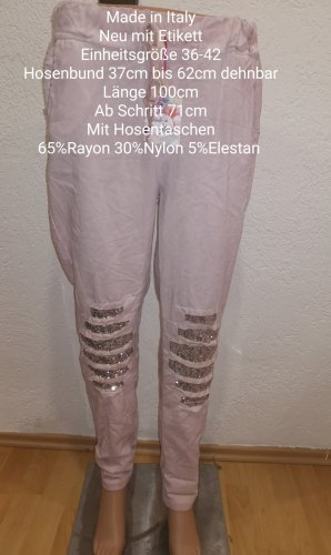 Made in Italy Pantalon large rosé