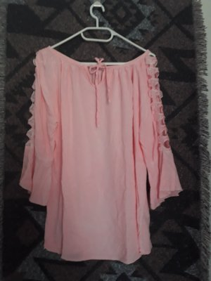 made in italy Gr 42 luftige Bluse rosa