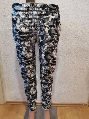 Made in Italy Grau schwarz weiße Camouflage Jogpants Jogger Hose Größe 36 38 40 42 Einheitsgröße